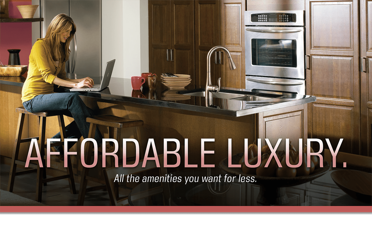 Affordable Luxury. Compromise-Shompromise. All the amenities you want for $125 per square foot.